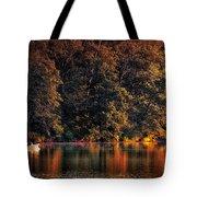 Autumn Boating At Argyle Lake Tote Bag