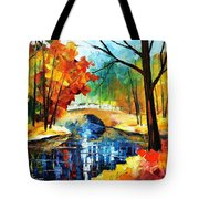 Autumn Calm 2 - Palette Knife Oil Painting On Canvas By Leonid Afremov Tote Bag