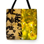 Autumn Carvings Tote Bag