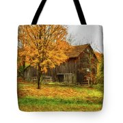 Autumn Catskill Barn Tote Bag