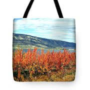 Autumn Cherry Orchard Tote Bag