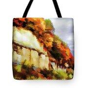 Autumn Cliffs On Way To Hannibal, Missouri Tote Bag