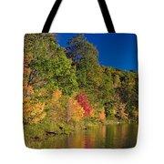 Autumn Color Trees Along Beauty Lake Tote Bag