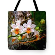 Autumn Colored Orchids Tote Bag