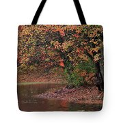 Autumn Colors By The Pond Tote Bag