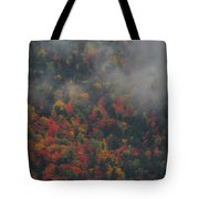 Autumn Colors In The Clouds Tote Bag