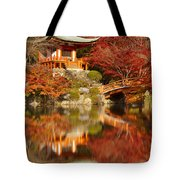 Autumn Colours At Daigo-ji Temple In Kyoto In Japan Tote Bag
