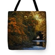 Autumn Country Bridge Tote Bag by Jessica Jenney
