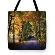 Autumn Country Lane Tote Bag