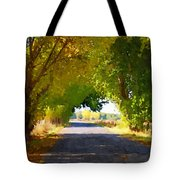 Autumn Country Lane Tote Bag