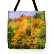 Autumn Country On A Hillside II - Digital Paint Tote Bag