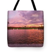 Autumn Evening At Forest Parks Grand Basin Tote Bag