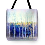 Walking Around The Pond Tote Bag