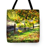 Autumn Fence Tote Bag
