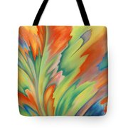 Autumn Flame Tote Bag by Lucy Arnold