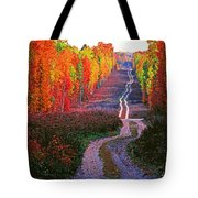 Autumn Forest Track Tote Bag
