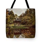 Autumn Gazebo Reflection Tote Bag