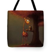 Autumn Giraffe Tote Bag