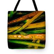 Autumn Grassy Rain Drops Tote Bag