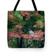 Autumn Hawk Square Tote Bag