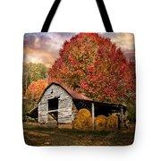 Autumn Hay Barn Tote Bag