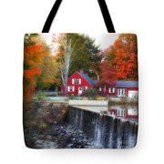 Autumn House At The Falls Tote Bag