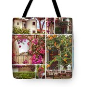autumn houses,  gardens and balconies in Portugal Tote Bag by Ariadna De Raadt