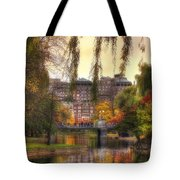 Autumn In Boston Garden Tote Bag