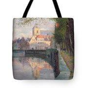 Autumn In Bruges Tote Bag by Omer Coppens