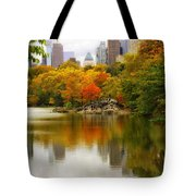 Autumn In Central Park Tote Bag