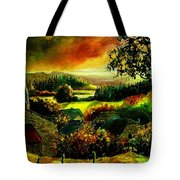 Autumn In Our Village Ardennes Tote Bag