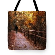 Autumn In Stride Tote Bag