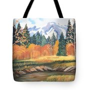 Autumn In The Mountans Tote Bag