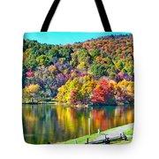 Autumn Lake Tote Bag
