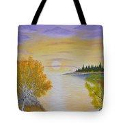 Autumn Lake Sunset  Tote Bag