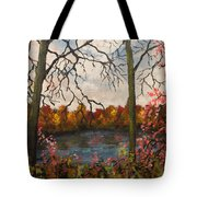 Autumn Lake View Tote Bag
