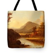 Autumn Landscape George Henry Durrie Tote Bag