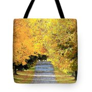 Autumn Lane Tote Bag by Joyce Kimble Smith