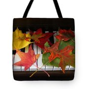 Autumn Leaves - A Love Song Tote Bag