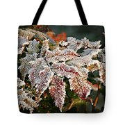 Autumn Leaves In A Frozen Winter World Tote Bag