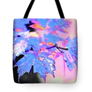 Autumn Leaves In Blue Tote Bag