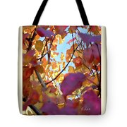 Autumn Leaves In Blue Sky Tote Bag
