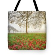 Autumn Leaves Near To Far Super High Resolution Tote Bag