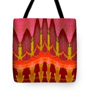 Autumn Leaves Polar Coordinate Abstract Tote Bag