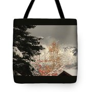 Autumn Leaves Winter Snow Tote Bag