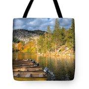 Autumn Light At The Lake Tote Bag