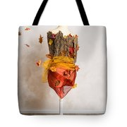 Autumn Mannequin With Falling Leaves Tote Bag