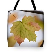 Autumn Maple Leaf Vertical Tote Bag