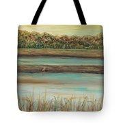 Autumn Marsh And Bird Tote Bag