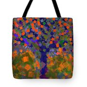Autumn Message Tree Tote Bag